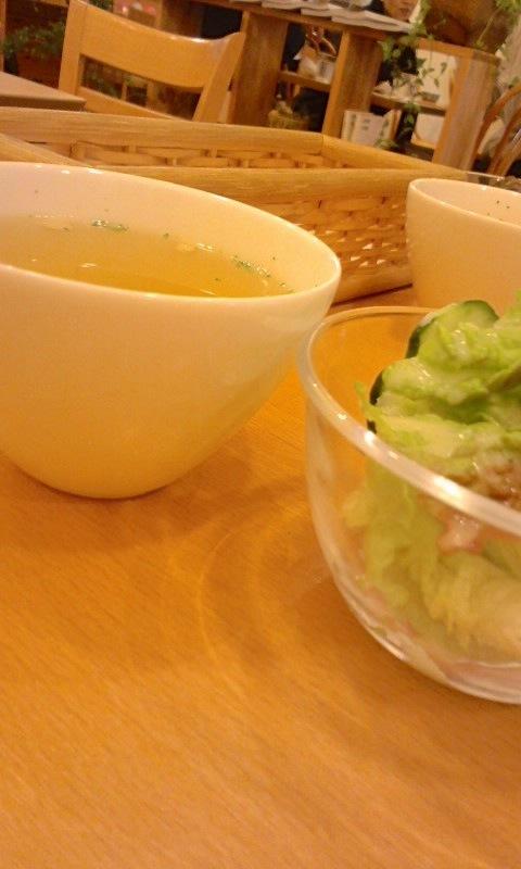 cafe soeur サラダとスープ
