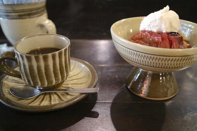 茶房 武蔵野文庫 焼きりんご