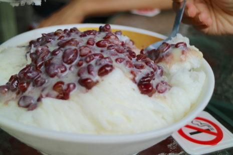 紅豆雪花冰 冰讃 ピンザン