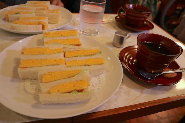 はまの屋パーラー 珈琲と玉子・サンドゥイッチ