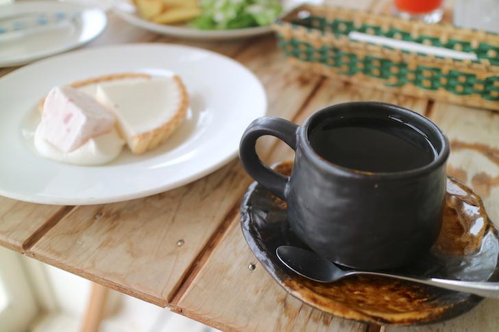 ブエナビスタ コーヒーとレアチーズケーキ