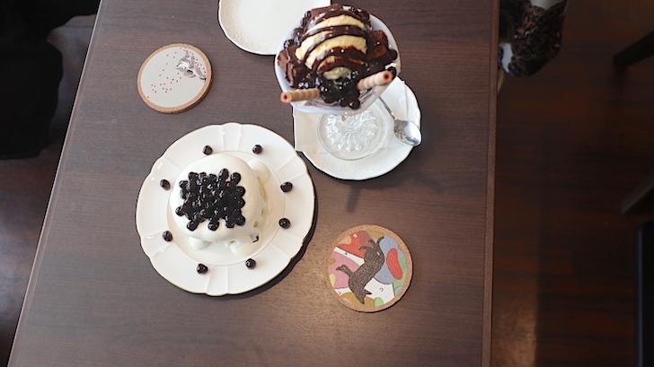 カフェ台北 台湾タピオカ厚焼ホットパンケーキとタピオカパフェ