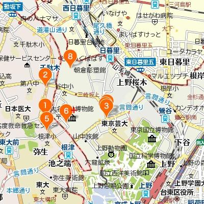 谷中・千駄木・根津のカフェマップ400