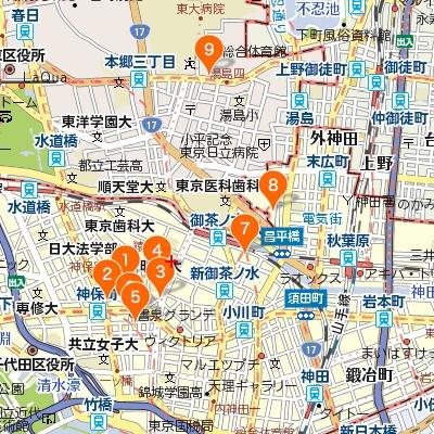 神田・神保町・御茶ノ水のカフェマップ400