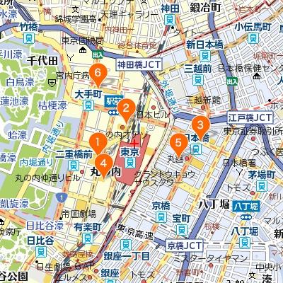 大手町・日本橋のカフェマップ