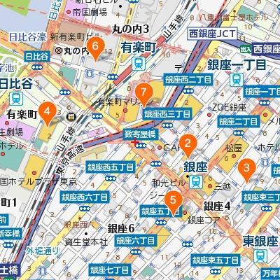 銀座・有楽町・日比谷のカフェマップ400