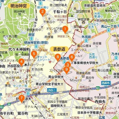 渋谷・原宿・表参道のカフェ