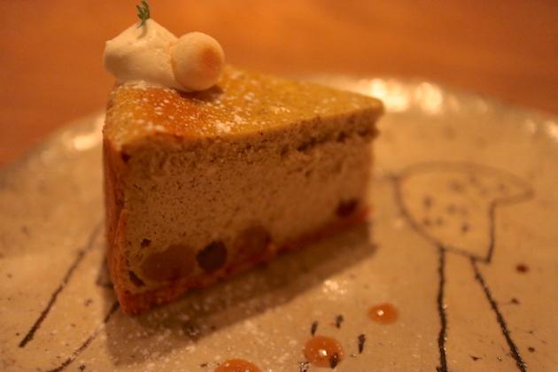 ほうじ茶ミルクのベイクドチーズ カフェ ケシパール
