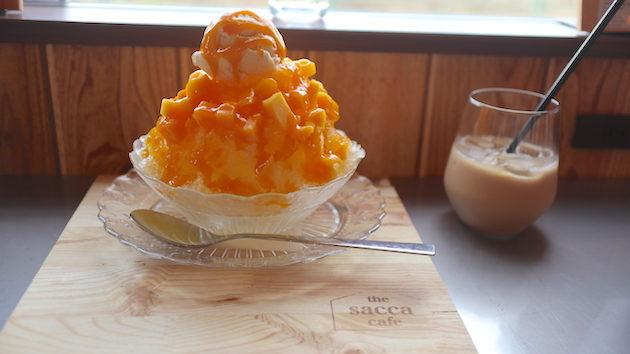 マンゴーかき氷 THE SACCA CAFE