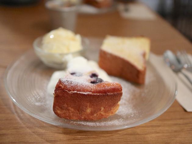 デザート盛り合わせ バニラアイス添え Cafe Hütte