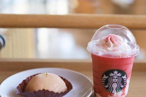 ストロベリーマッチフラペチーノ レッドとレモンケーキ スターバックスコーヒー
