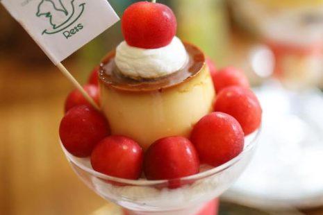 さくらんぼプリンパフェ Re:s cafebar&sweets