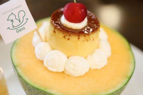 メロンプリンパフェ Re:s cafebar&sweets