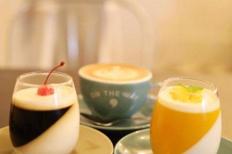 マンゴーゼリーとコーヒーゼリーとカフェラテ ON THE WAY,cafe&ba