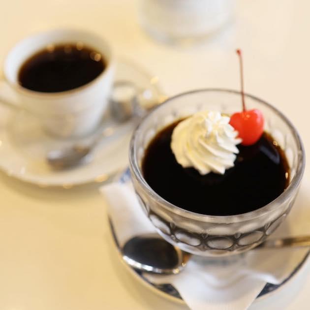 コーヒーゼリーとブレンドコーヒー 純喫茶 マイアミ