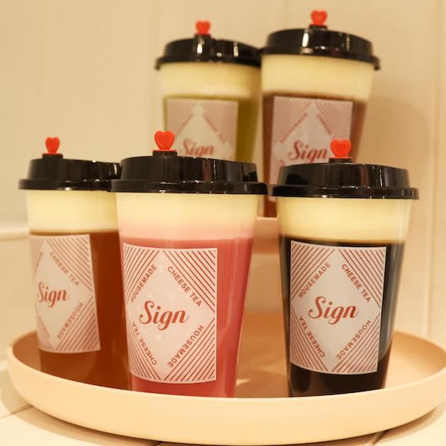 全5種類のチーズフォームティー Sign KICHIJOJI