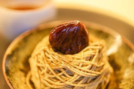 季節限定焙じ茶モンブラン カネ十農園 表参道
