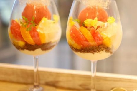柑橘とヴァンブランのパルフェ Мир cafe