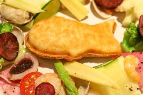 """真鯛の""""たい焼き""""と彩り野菜、海の幸のガーデンプレート THE FLOWER TABLE"""