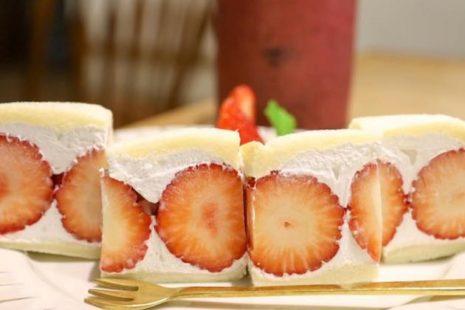 いちごのショートケーキ風サンド Sandwich cafeTATOMIYA1