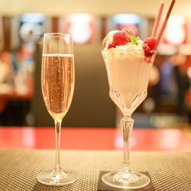 Pink & Berry パフェと奏 sakura 桜スパークリング LA TABLED HEDIARD